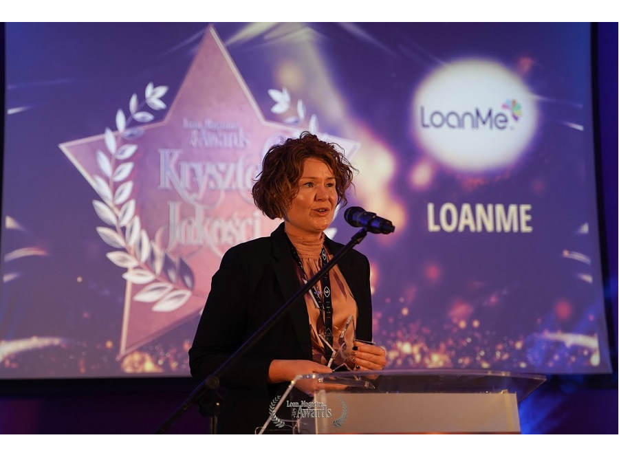 "LoanMe awarded the ""Crystal of Quality"" at the Loan Magazine Awards"